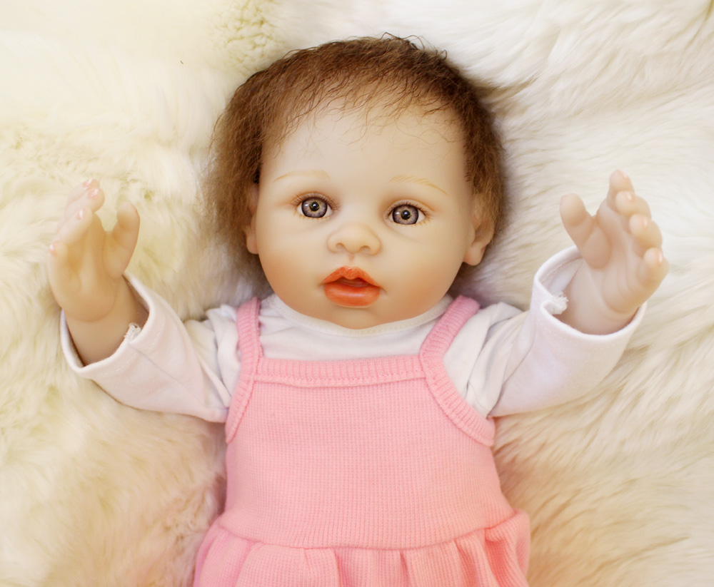 Bebe real reborn bonecas 45cm full silicone reborn baby dolls for child birthday gift educational toys dollsBebe real reborn bonecas 45cm full silicone reborn baby dolls for child birthday gift educational toys dolls