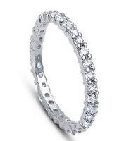 Darmowa wysyłka s925 luksusowe jakości srebro klasyczny pierścionek zaręczynowy kobiety strona punk pierścień zapobiegać alergii