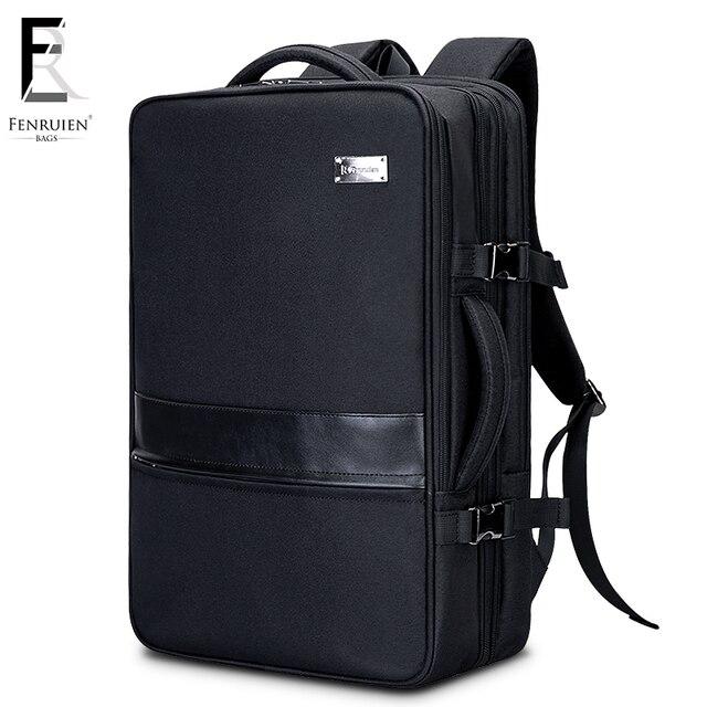 Fenruien Business Backpack Men 17 Inch Laptop Bag Large Mochila Triple Uni Waterproof Anheft Travel
