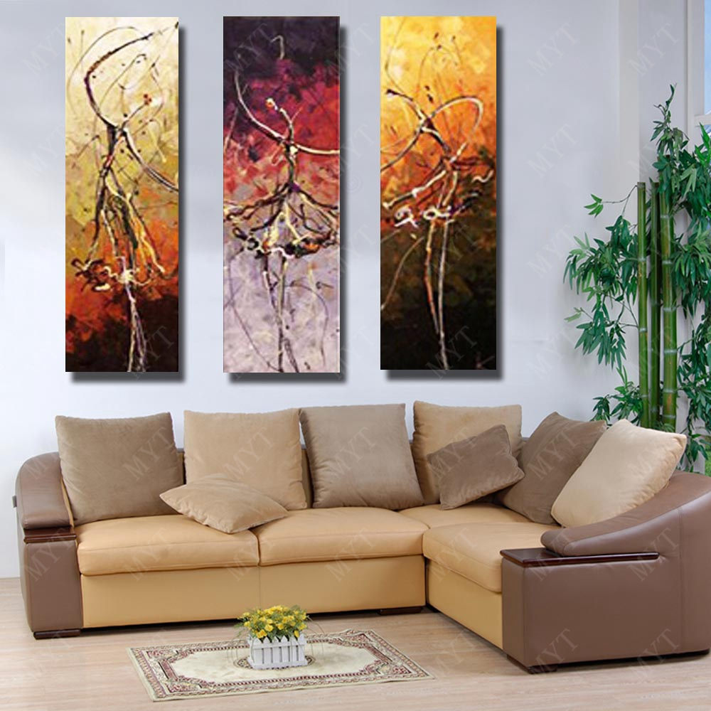 Cartoon wall art abstract dance girl oil painting on canvas pictures for living room decor wall for Oil painting for living room