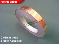 1x 24mm 30M 0 06mm Adhesive Copper Foil Tape Tapes Sticky For Magnetic Tape Wave Radiation