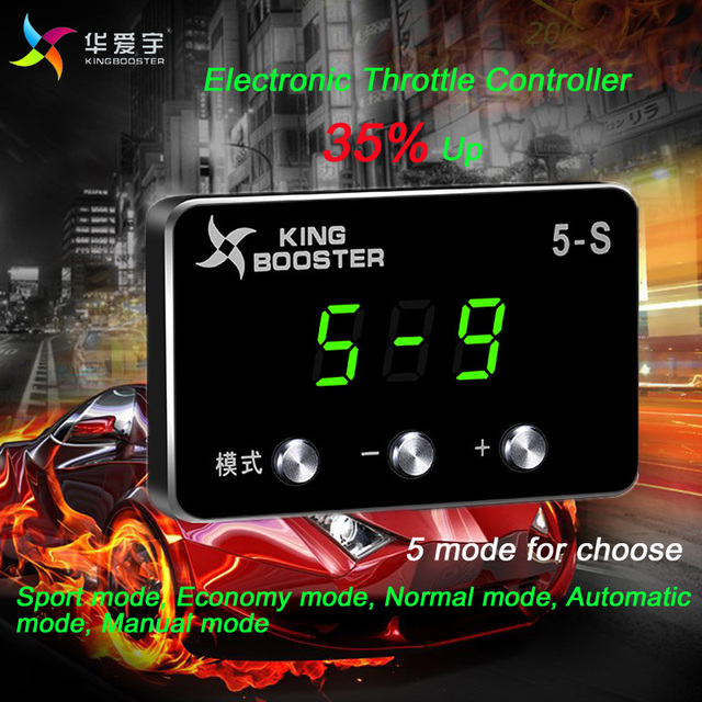 Kingbooster Lcd Screen Display Electronic Throttle Controller For