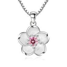 Женское Ожерелье с кулоном 100% Серебро 925 пробы блестящими