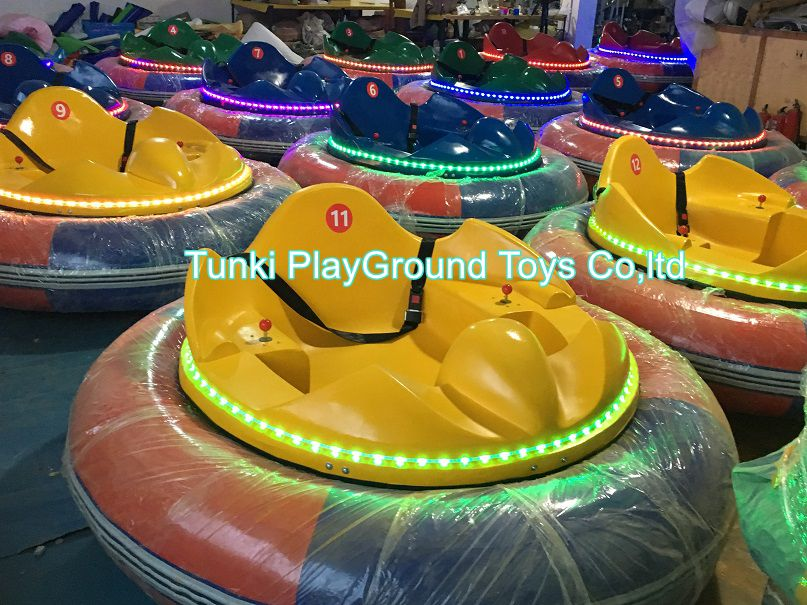 Amusement Park Kids Ride UFO Used Stainless Steel Inflatable Battery Middle Bumper Car