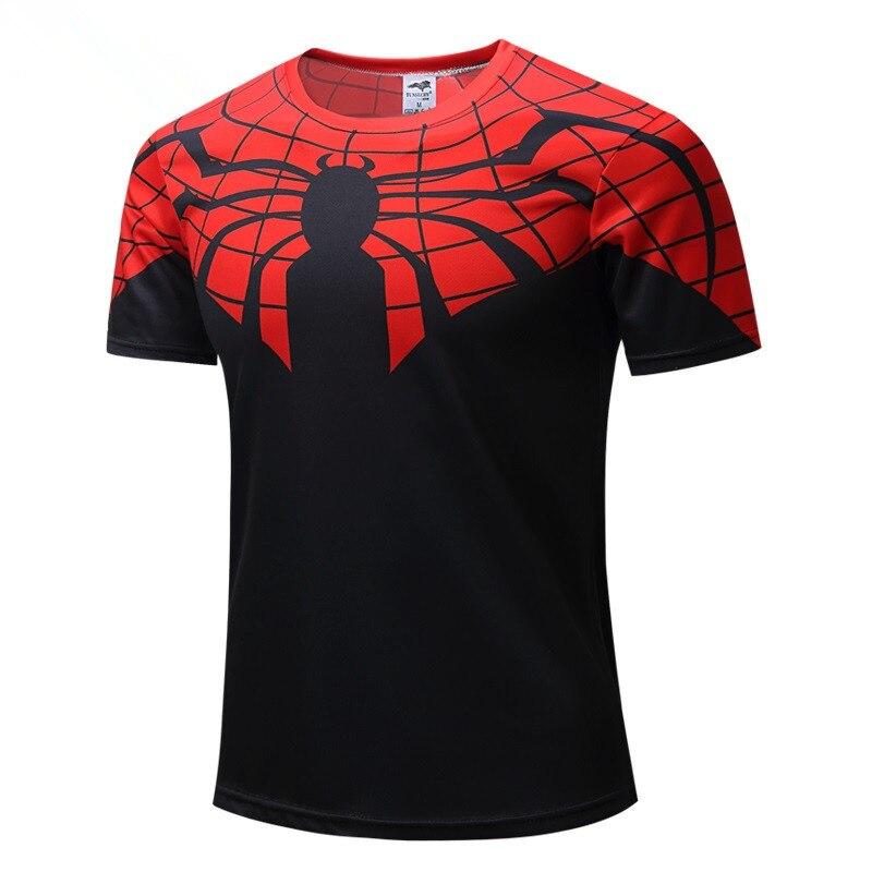 Nieuwe Mannen Jeugd 3D T-Shirt Marvel Superheld Spiderman Ironman T-shirt Man Fitness tee Compressie Shirt Hoge elastische Panty