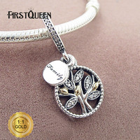 FirstQueen 14k Gold And Silver Family Dangle Charm Fit Bracelets For Jewelry Making For Christmas Gift
