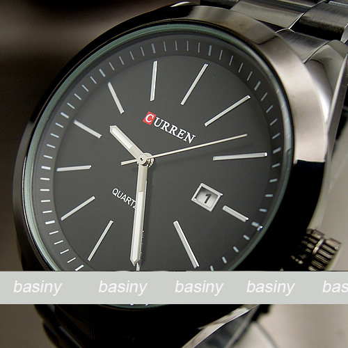 CURREN Sport water quartz hours date hand luxury clock men steel wrist watch