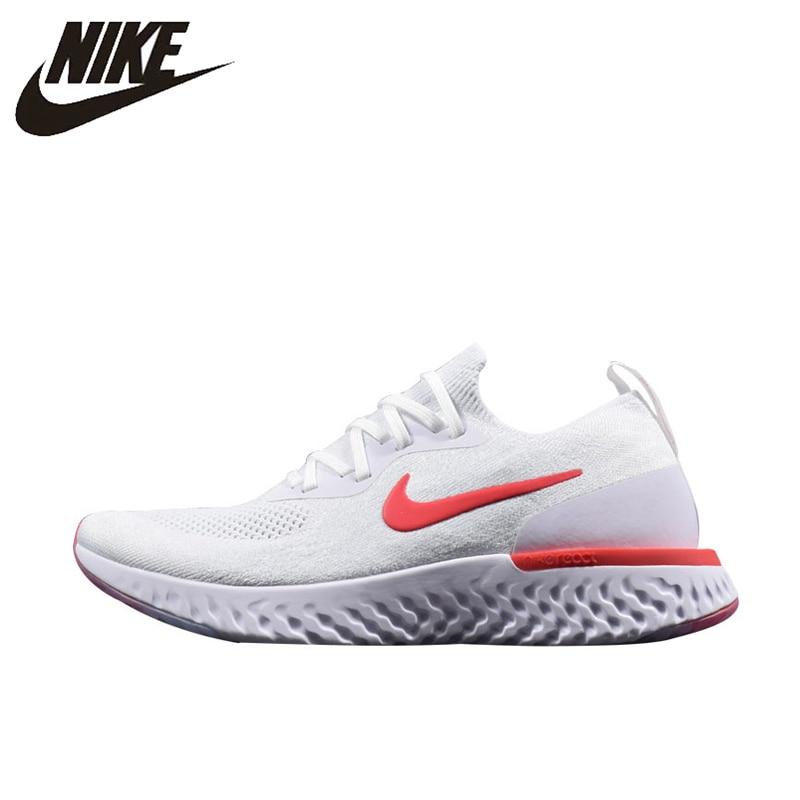 newest b0717 070db Nike Epic React Flyknit, buty do biegania, biały i czerwony, odzież  oddychająca odporne