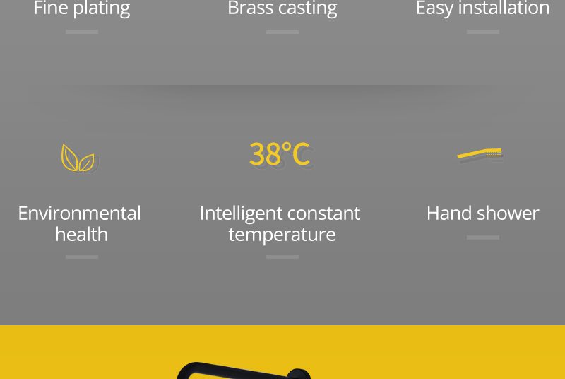 Shower System Black Rainfall Shower Head Brass Body Hand Shower Bathroom Rain Mixer Thermostatic 108 Shower Set (5)