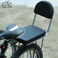 Bicyle Child Rear Seat PU Leather Thick Cushion Cover Biking Seat With Backrest Cycle Rear Seat