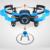 JXD 512 V Mini Quadcopter Mini RC Drone com Câmera VGA Disco Voador 2.4G 4CH 6 eixos giroscópio Rc helicóptero Sem Cabeça