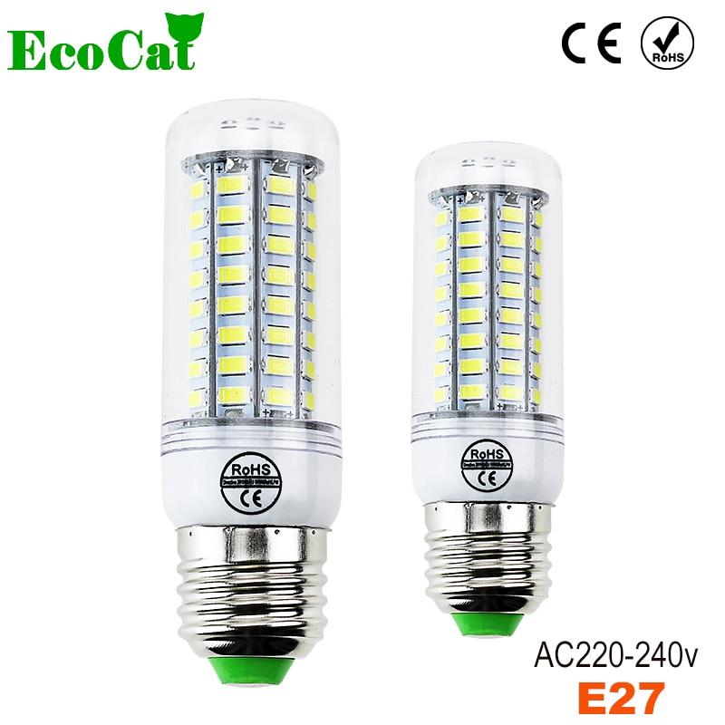 ECO CAT 220V LED Lamp bulb Replace 7W 12W 15W 20W 25W 30W Fluorescent Light SMD5730 24/36/48/56/69/72 LEDs lampada led E27 free shipping dimmable t8 led tube bulb 4ft 20w 1200mm g13 base replace fluorescent lamp light