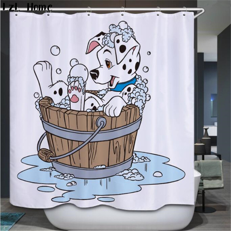 LzL Home new 3d large animals pattern fabric curtains for the <font><b>kids</b></font> lovely bathroom panda cartoon rabbit tiger shower curtain