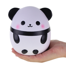 Jumbo Panda Egg Squishy Slow Rising Cute Kawaii Squishies 17CM Retail 1pcs Animals Stress Relief Toys Package Kids Gifts Promote