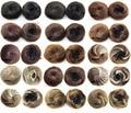 Coque de cabelo sintético Novo estilo clipe em em rede elástica Rabo de Cavalo Com Cordão Postiços Chignon 34 cores disponíveis, 35g, 10 unidades/lotes