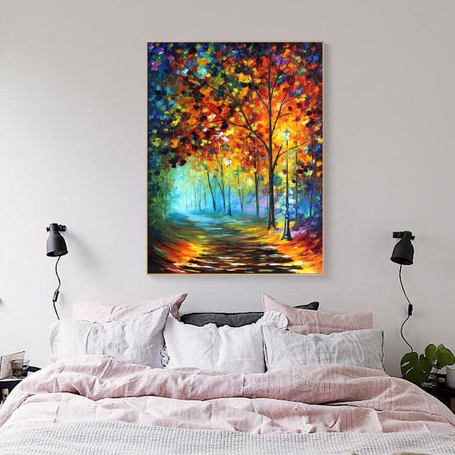 Online Shop MUYA Grote paletmes schilderen canvas verticale ...