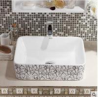 На квадратной раковине раковина чаша уборная, туалет Керамика декоративная раковина в виде миски