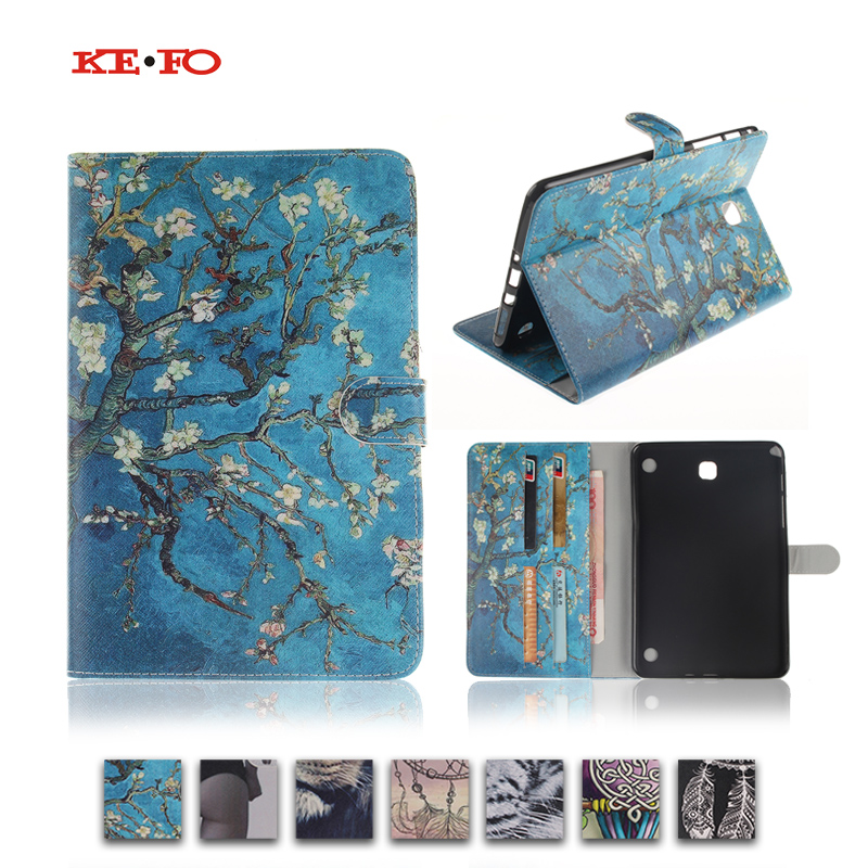 For Samsung Galaxy Tab A 8.0 T350 T351 SM-T355 case cover 8 inch tablet flower Paint PU Leather Stand Protective bags Y4D40D case for samsung galaxy tab a 9 7 t550 inch sm t555 tablet pu leather stand flip sm t550 p550 protective skin cover stylus pen