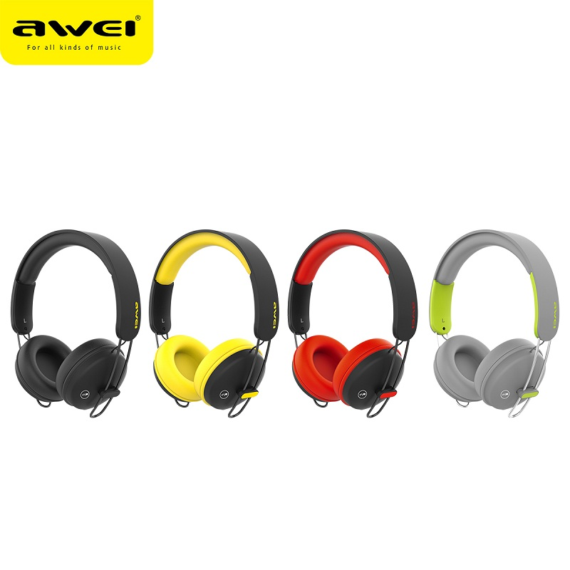 Original AWEI A800BL Bluetooth Headphones Headset Wireless Headphone Microphone Headset Sports