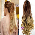 Fashion Lady Girl Ponytail Claw Clip Ponytails Hair Extension 2016 Long On Clip Fake Hair Piece Hairpieces 30#/25# Free Ship B40