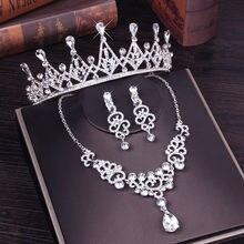 Moda Crystal Clear Nupcial Do Casamento Define Mulheres Pageant Prom Casamento Joias Joias Acessorios de Noiva Tiara
