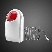 Wired Intelligent Outdoor Waterproof Flash Siren Sound Strobe Alarm Siren for GSM Home Security Alarm System G18 G19 8218G G90B