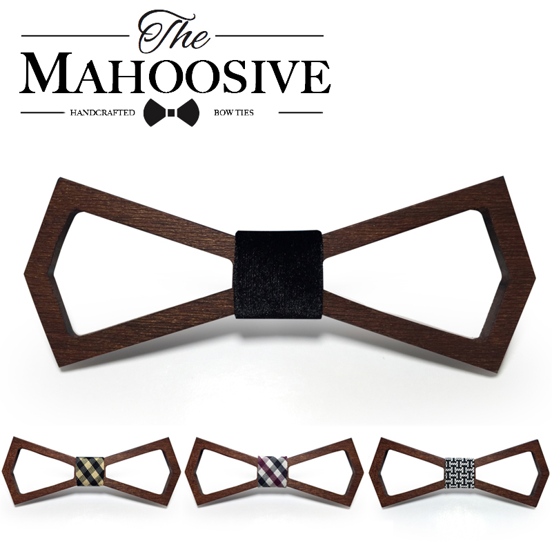 Trä Mode Bowties Groom Normal Mens Wood Hollow Cravat Present För Män Butterfly Gravata Male Marriage Wedding Bow Slipsar
