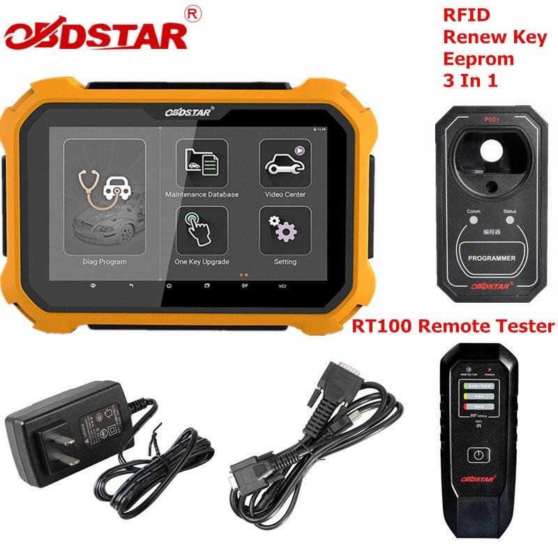 OBDSTAR X300 DP Plus X300DP Auto programador clave Pin código de corrección del odómetro EEPROM para Toyota llave inteligente con P001 programador