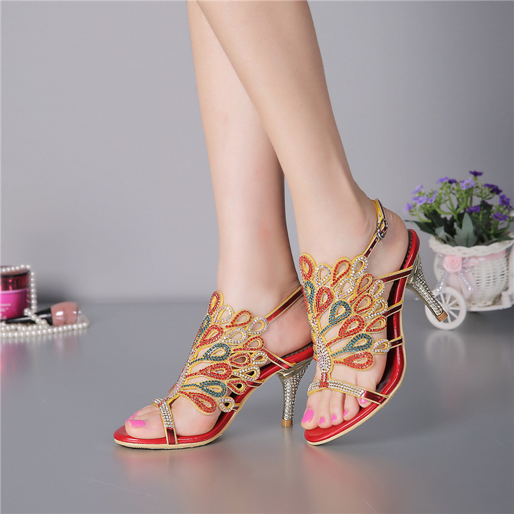 ФОТО Size 11 New Summer Buckle High Heel Sandals Women's Open Toed Fashion Wedding Shoes For Womens 2016