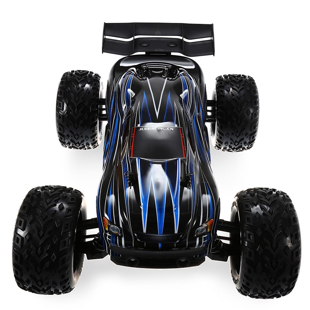 JLB Racing 21101 1:10 4WD voiture tout-terrain sans balai RC 80 km/h 2.4 GHz 2CH avec fonction Anti-choc anti-éclaboussures voitures RC