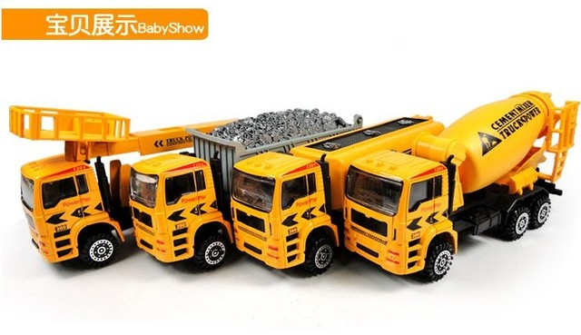 Toys For Boys To Color : Yellow color truck big luxury alloy truck educantional toys for boys