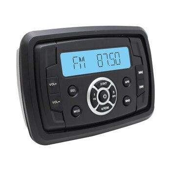 "Marine Audio MP3 Radio FM AM Bluetooth Music Stereo+1 Pair 4"" 2 Way Marine Boat Waterproof Speakers for Car Outdoor Marine Boat"