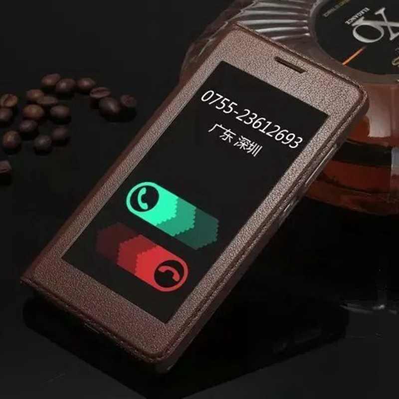 bilder für Echtes Leder Handy Fall Für Huawei Honor 7 Luxury Schutzhülle Fenster-ansicht Coque Für Honor 7 Flip Fall Fundas