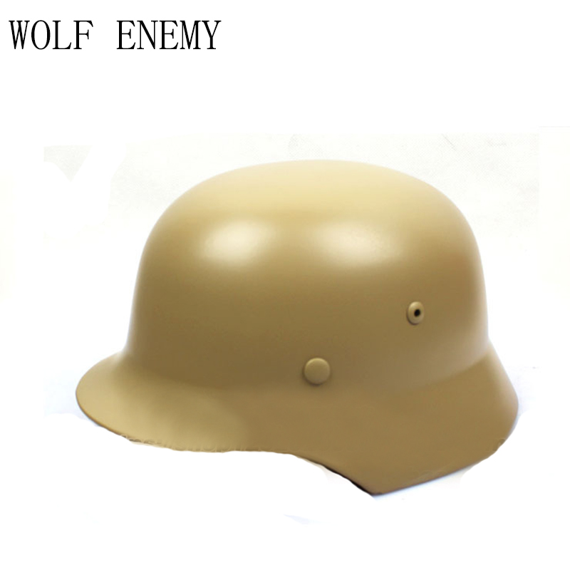 Tactical Helmet German Army Classic Burgomasters OD M35 Military Police Outdoor CS War Game Airsoft/Paintball Steel Helmet protective outdoor war game military skull half face shield mask black