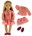 "Doll Clothes Top+skirt+one pairs shoes for 18"" American Girl Doll Casual Clothes"