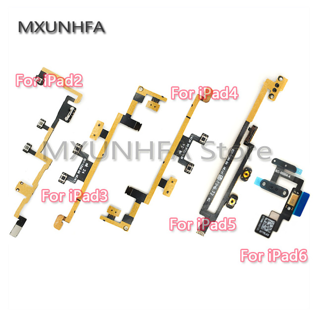 New Power On Off Button Volume Switch Control Flex Cable Ribbon For iPad 2 3 4 5 6 Air 2 For Mini 1 2 3 4 Replacement Parts