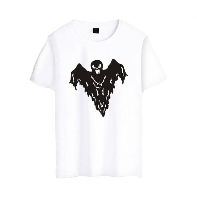 Halloween Bat Print T Shirt Men Women Funny Tops Hipster Summer Style O-Neck Short Sleeve Cotton T-Shirt Femme Streetwear 4XL