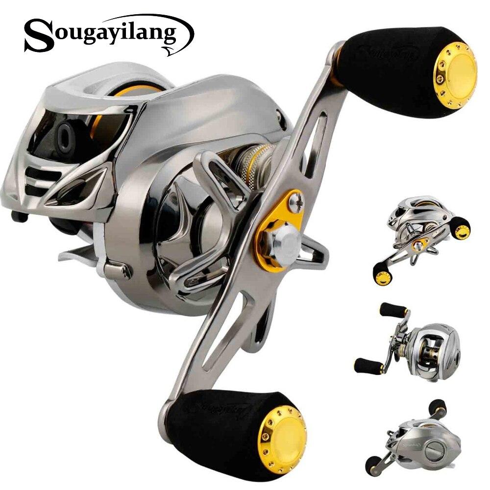 Sougayilang 6.3: 1 moulinet de pêche Baitcasting haute vitesse gauche/droite moulinet de pêche moulinet d'eau douce en eau salée pêche
