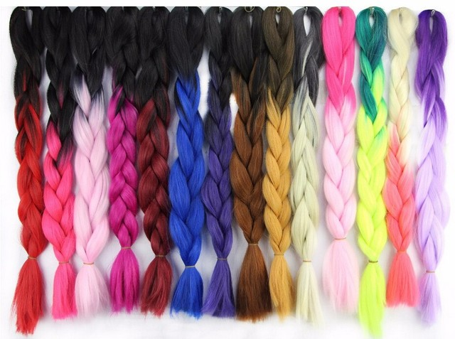 Ombre Bunt free shipping 3pcs ombre braid hair weave hair extension