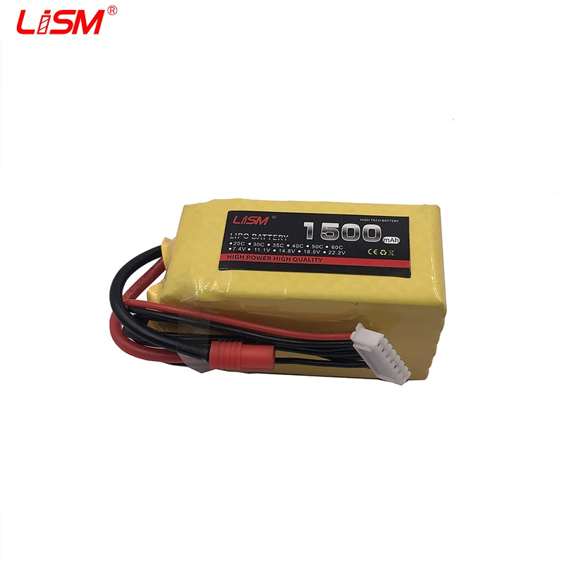 <font><b>Lipo</b></font> Battery <font><b>6S</b></font> 22.2V <font><b>1500mah</b></font> 30C For RC Drone Quadcopter Helicopter Airplane Boat Car Remote Control Toys Battery#35B19 image