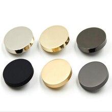 1 лот = 10 шт. аксессуары для шитья металлические декоративные пуговицы для одежды бутон fantaisie botones для рукоделия Цвет: серебристый золотой черный