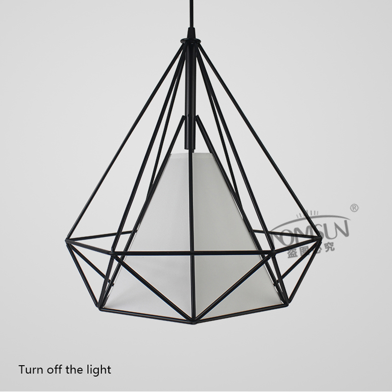 Vintage industrial pendant lights modern retro cage lamps E27 pendant wrought iron lamp dining room bar shop hanging lighting new loft vintage iron pendant light industrial lighting glass guard design bar cafe restaurant cage pendant lamp hanging lights