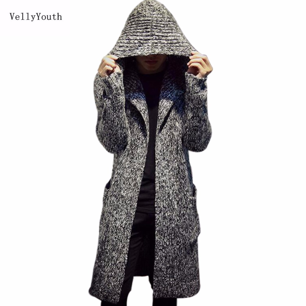 Online Shop VellyYouth Sweaters New Winter Trench Warm Coats Long ...
