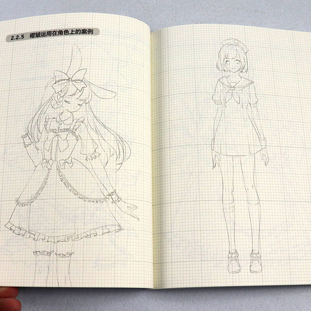 Пособие по аниме рисованию, раскраска 3