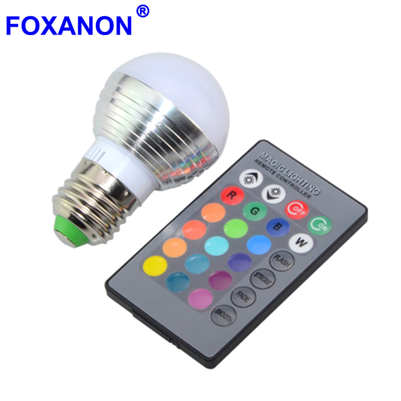 где купить 1Pcs Dimmable 16 Colors RGB Christmas Decor Atmosphere LED Night light E27 E14 5W 85V - 265V LED lamp Spotlight Bulb + IR Remote по лучшей цене