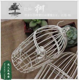 Wrought iron bird cage small cage bird cage flower fashion bird cage decoration desk flower