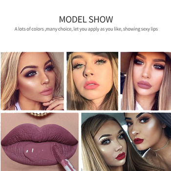 Qibest Waterproof Liquid Lip Gloss Metallic Matte Lipstick For Lips Cosmetic Sexy Batom Mate Lip Tint Makeup Lasting Lipgloss 2