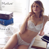 Munllure Deep V transparent underwear charm lace vine decorative pattern sexy charming ultra-thin   bra     set