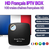 1 Year Best Arabic French Belgium Benelux IPTV + 2017 NEW CSA96 Smart TV BOX RK3399 Bluetooth 4.0 4G/32G Android 6.0 Set Top Box