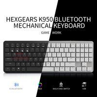 Hexgears X1 Bluetooth клавиатура RGB Подсветка PBT Keycap тонкий игровой переключатель kailh клавиатура Gamer Беспроводной механическая клавиатура